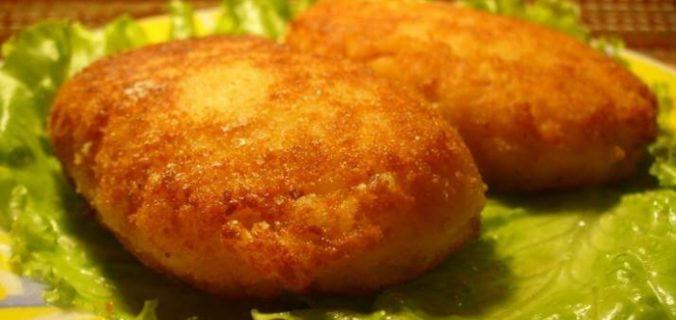 Котлети з вареної картоплі