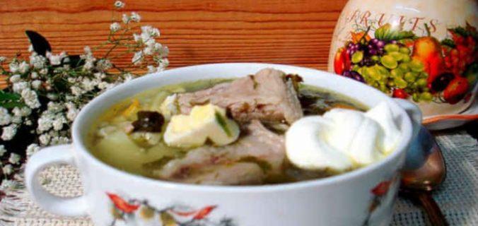 Суп рисовий з реберцями