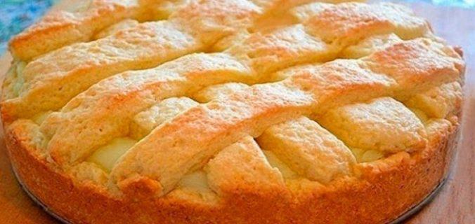 Яблучний пиріг із заварним кремом