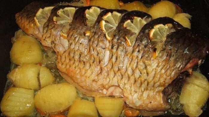 Как запечь карпа в духовке целиком с картошкой пошаговый рецепт с