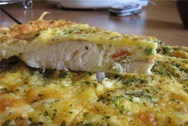 Риба, запечена в яйці з майонезом