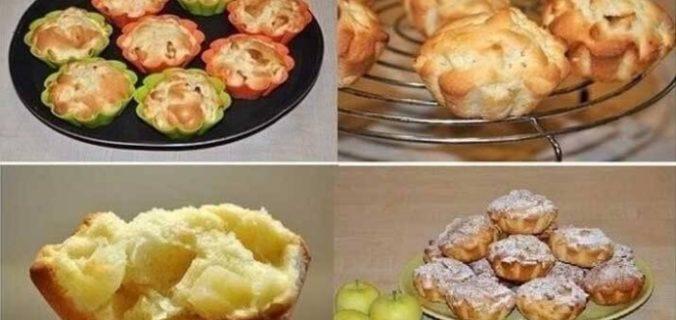Соковиті яблучні кекси