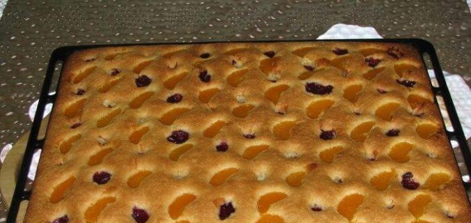 Пиріг на мінералці і соняшниковій олії