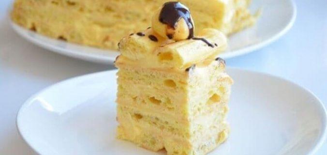 Торт з заварного тіста