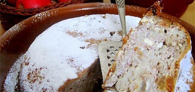Солодка запіканка з макаронів
