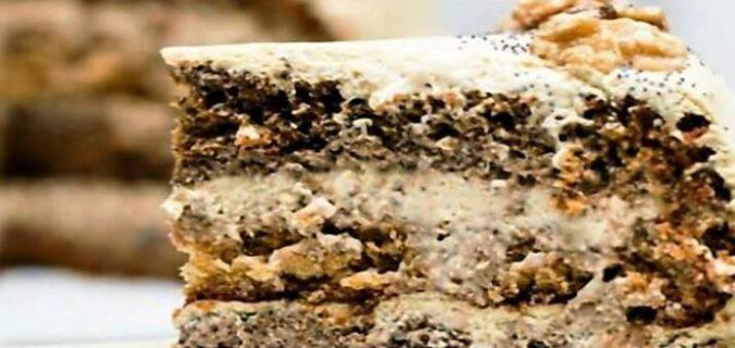 Торт медово-маковий