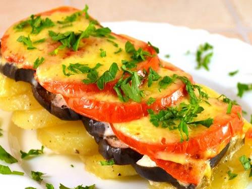 Фото рецепт картофель баклажанами