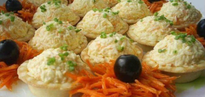 Тарталетки закусочні з морквою