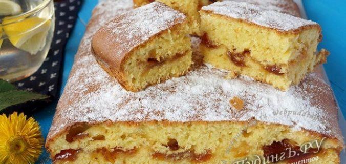 Пиріг...два пирога з варенням на швидку руку