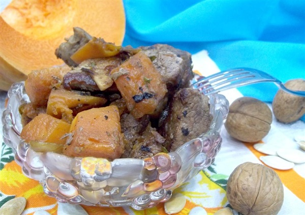 Печеня зі свинини з гарбузом: покроковий рецепт