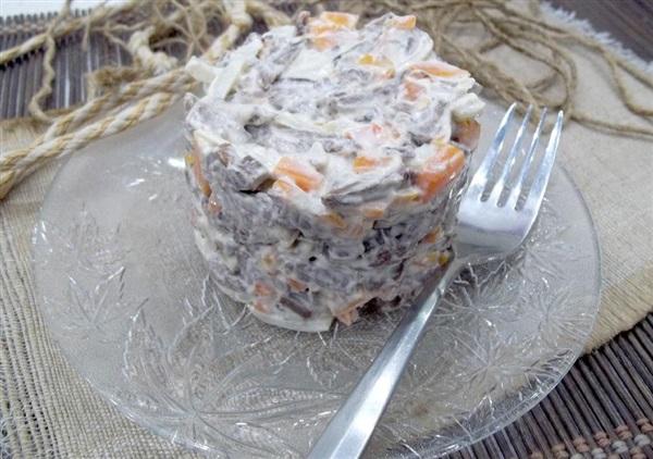 Салат з телячого серця: покрокове приготування