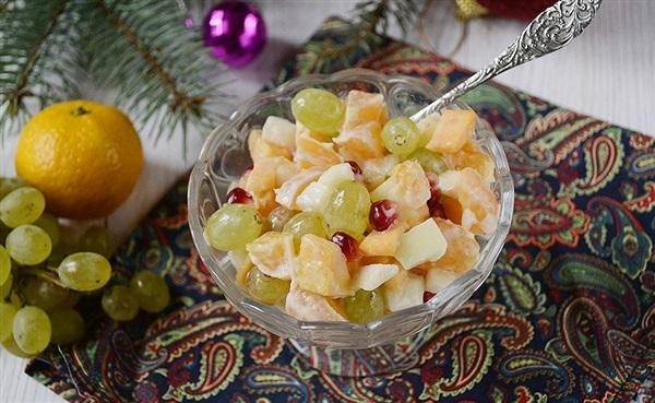 Фруктовий салат з гарбузом: яскравий десерт на Новий рік, рецепт