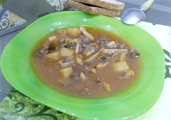 Пісний грибний томатний суп: покрокові фото, відео