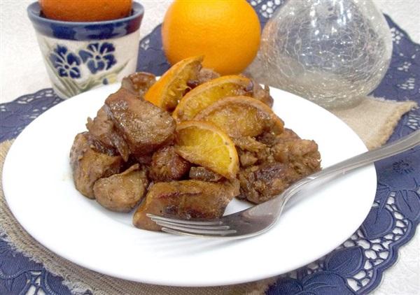 Тушковане мясо з апельсинами: покрокові фото, відео