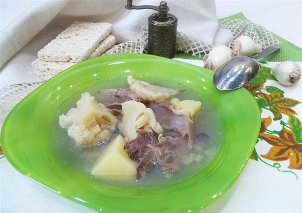 Суп з мовою і цвітною капустою: покрокові фото, відео