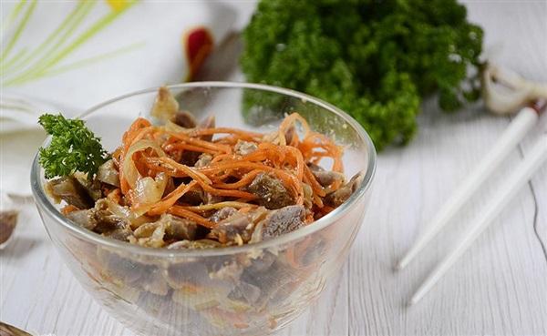 Хе з курячих шлуночків по-корейськи, рецепт з фото