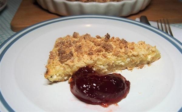 Насипний сирний пиріг, покроковий рецепт з фото