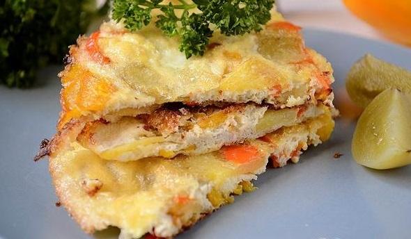 Фритата з картоплею і перцем: покроковий рецепт з фото