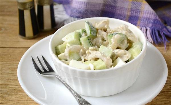 Салат з грибів оленячих ріжок — рецепт