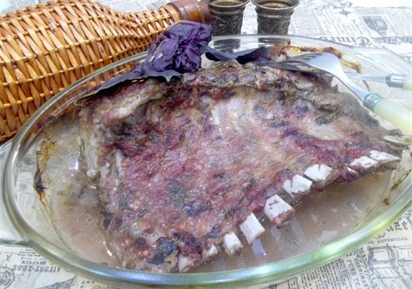 Ребра баранини в сливовому соусі: кулінарний рецепт з фото і відео