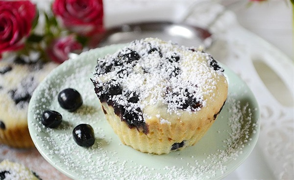 Сирні кекси з чорницею - рецепт